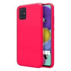 Funda Silicona Líquida Ultra Suave para Samsung Galaxy A51 5G color Rosa Fucsia