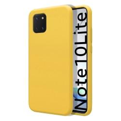 Funda Silicona Líquida Ultra Suave para Samsung Galaxy Note 10 Lite color Amarilla