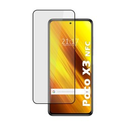 Protector Cristal Templado Completo 5D Full Glue Negro para Xiaomi POCO X3 NFC Vidrio