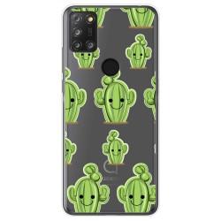 Funda Gel Transparente para Alcatel 3X 4CAM diseño Cactus Dibujos
