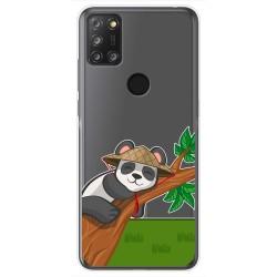 Funda Gel Transparente para Alcatel 3X 4CAM diseño Panda Dibujos