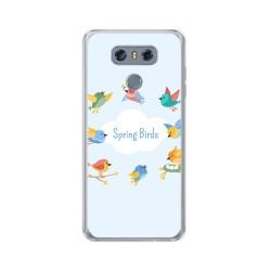Funda Gel Tpu para Lg G6 Diseño Spring Birds Dibujos