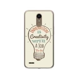 Funda Gel Tpu para Lg K10 2017 Diseño Creativity Dibujos