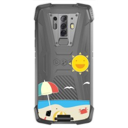 Funda Gel Transparente para Blackview BV6900 / BV6900 Pro diseño Playa Dibujos