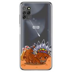 Funda Gel Transparente para Elephone E10 / E10 Pro diseño Bufalo Dibujos