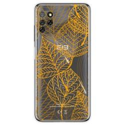 Funda Gel Transparente para Elephone E10 / E10 Pro diseño Hojas Dibujos
