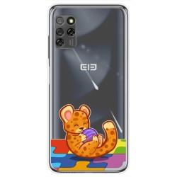 Funda Gel Transparente para Elephone E10 / E10 Pro diseño Leopardo Dibujos
