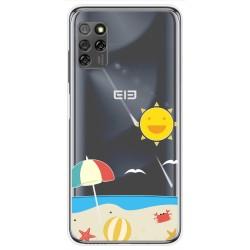 Funda Gel Transparente para Elephone E10 / E10 Pro diseño Playa Dibujos