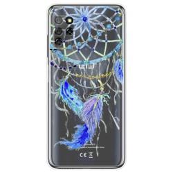 Funda Gel Transparente para Elephone E10 / E10 Pro diseño Plumas Dibujos