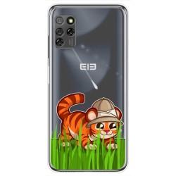 Funda Gel Transparente para Elephone E10 / E10 Pro diseño Tigre Dibujos