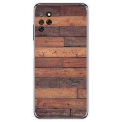 Funda Gel Tpu para Elephone E10 / E10 Pro diseño Madera 03 Dibujos