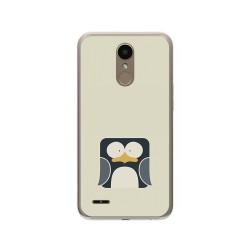 Funda Gel Tpu para Lg K10 2017 Diseño Pingüino Dibujos