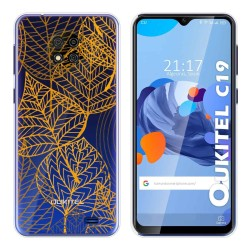 Funda Gel Transparente para Oukitel C19 diseño Hojas Dibujos