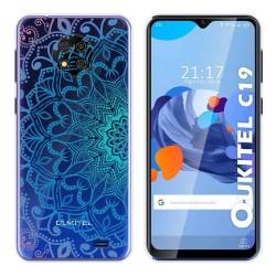 Funda Gel Transparente para Oukitel C19 diseño Mandala Dibujos