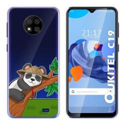 Funda Gel Transparente para Oukitel C19 diseño Panda Dibujos