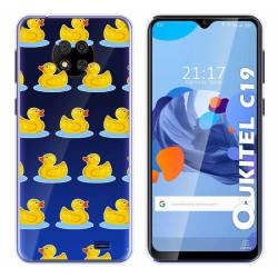 Funda Gel Transparente para Oukitel C19 diseño Pato Dibujos