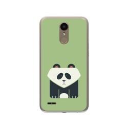 Funda Gel Tpu para Lg K10 2017 Diseño Panda Dibujos