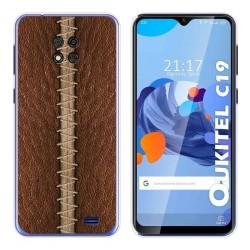 Funda Gel Tpu para Oukitel C19 diseño Cuero 01 Dibujos