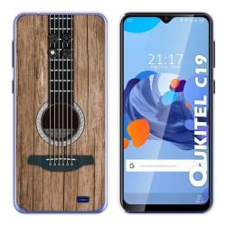 Funda Gel Tpu para Oukitel C19 diseño Madera 11 Dibujos