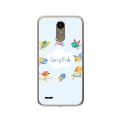Funda Gel Tpu para Lg K10 2017 Diseño Spring Birds Dibujos