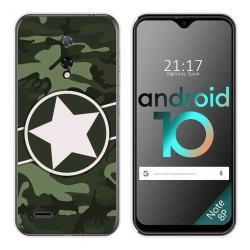 Funda Gel Tpu para Ulefone Armor Note 8P diseño Camuflaje 01 Dibujos