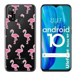 Funda Gel Transparente para Ulefone Armor Note 9P diseño Flamenco Dibujos