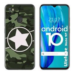Funda Gel Tpu para Ulefone Armor Note 9P diseño Camuflaje 01 Dibujos