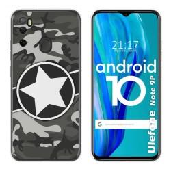 Funda Gel Tpu para Ulefone Armor Note 9P diseño Camuflaje 02 Dibujos