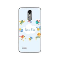 Funda Gel Tpu para Lg K4 2017 / K8 2017 Diseño Spring Birds Dibujos