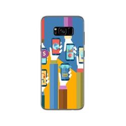 Funda Gel Tpu para Samsung Galaxy S8 Diseño Apps Dibujos