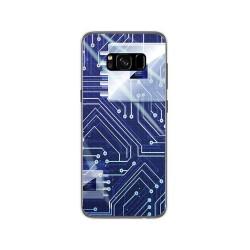 Funda Gel Tpu para Samsung Galaxy S8 Diseño Circuito Dibujos