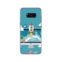 Funda Gel Tpu para Samsung Galaxy S8 Diseño Cohete Dibujos