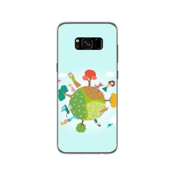 Funda Gel Tpu para Samsung Galaxy S8 Diseño Familia Dibujos