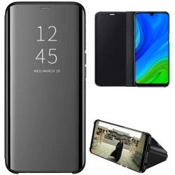 Funda Flip Cover Clear View para Huawei P Smart 2020 color Negra