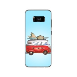 Funda Gel Tpu para Samsung Galaxy S8 Diseño Furgoneta Dibujos