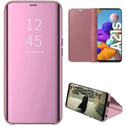 Funda Flip Cover Clear View para Samsung Galaxy A21s color Rosa