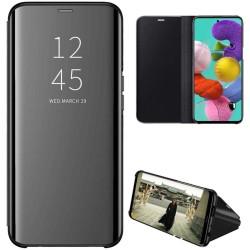 Funda Flip Cover Clear View para Samsung Galaxy A51 5G color Negra