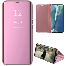 Funda Flip Cover Clear View para Samsung Galaxy Note 20 color Rosa
