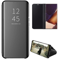 Funda Flip Cover Clear View para Samsung Galaxy Note 20 Ultra color Negra
