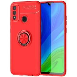Funda Magnetica Soporte con Anillo Giratorio 360 para Huawei P Smart 2020 Roja