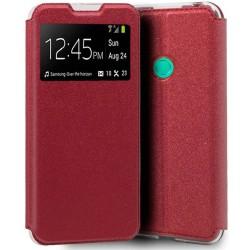 Funda Libro Soporte con Ventana para Xiaomi Redmi 9C color Roja