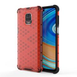 Funda Tipo Honeycomb Armor (Pc+Tpu) Roja para Xiaomi Redmi Note 9