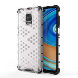 Funda Tipo Honeycomb Armor (Pc+Tpu) Transparente para Xiaomi Redmi Note 9