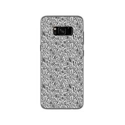 Funda Gel Tpu para Samsung Galaxy S8 Diseño Letras Dibujos