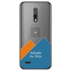 Personaliza tu Funda Gel Silicona Transparente con tu Fotografia para Ulefone Armor Note 8P dibujo personalizada