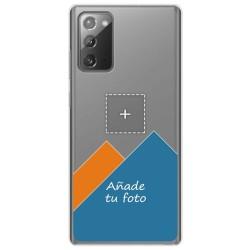 Personaliza tu Funda Gel Silicona Transparente con tu Fotografia para Samsung Galaxy Note 20 dibujo personalizada