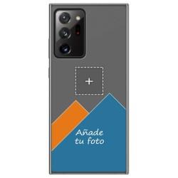 Personaliza tu Funda Gel Silicona Transparente con tu Fotografia para Samsung Galaxy Note 20 Ultra dibujo personalizada