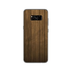 Funda Gel Tpu para Samsung Galaxy S8 Diseño Madera Dibujos