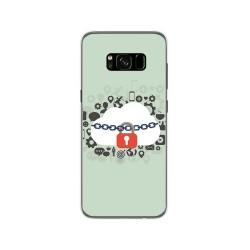 Funda Gel Tpu para Samsung Galaxy S8 Diseño Nube Dibujos
