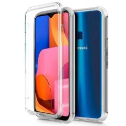 Funda Completa Transparente Pc + Tpu Full Body 360 para Samsung Galaxy A20s